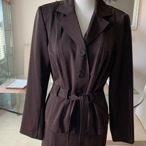 2pc Dark Brown T. Milano Suit